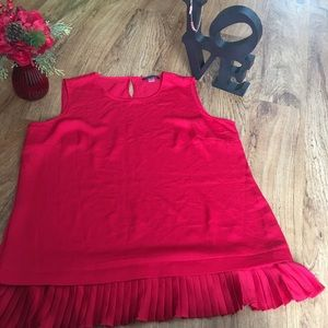 Tommy Hilfiger| Sleeveless Red Top | Size L